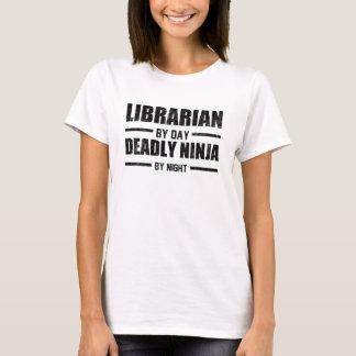 T-shirt Bibliothécaire par jour Ninja par nuit