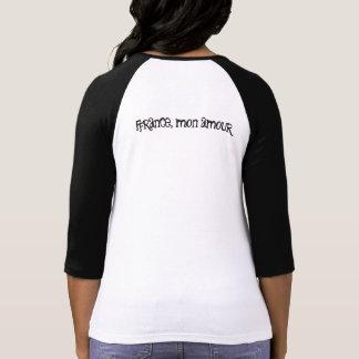 T-shirt bicolor femme manche 3/4