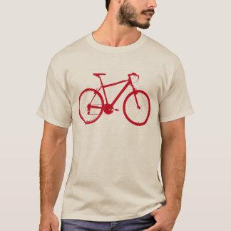T-shirt bicyclette rouge de graphique-vélo, faisant un