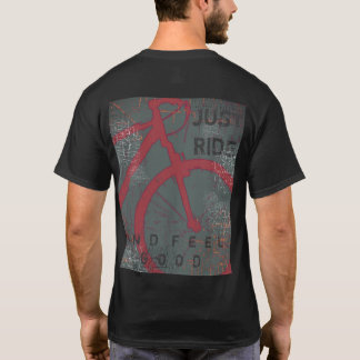 T-shirt bicyclette. vélo, juste tour et sensation bons
