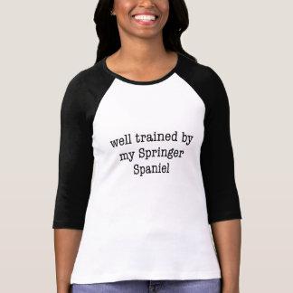 T-shirt Bien entraîné par mon springer spaniel