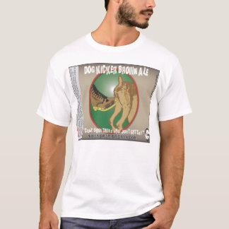 T-shirt Bière anglaise de Brown de joueur de chien