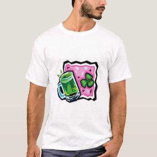 T-shirt Bière anglaise et shamrock verts