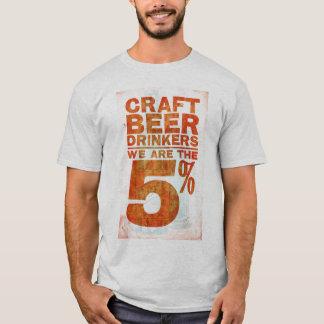 T-shirt Bière de métier Buveur-nous sommes les 5%