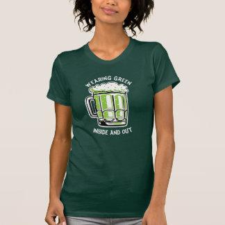 T-shirt Bière de vert du jour de St Patrick drôle