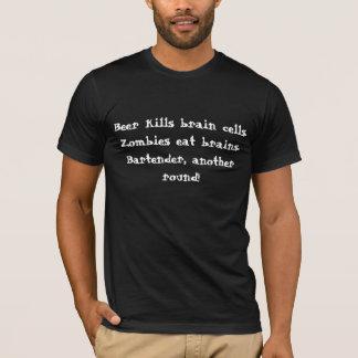 T-shirt Bière et zombis