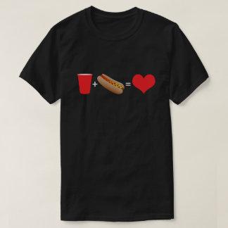 T-shirt bière + hot-dogs = amour