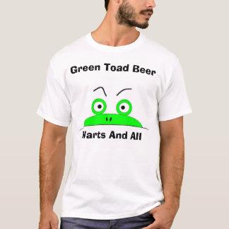 T-shirt Bière verte de crapaud