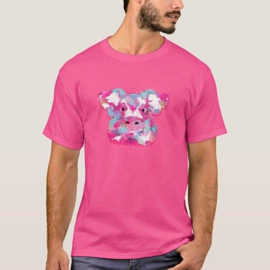 T-shirt Big pink pig dirty ego