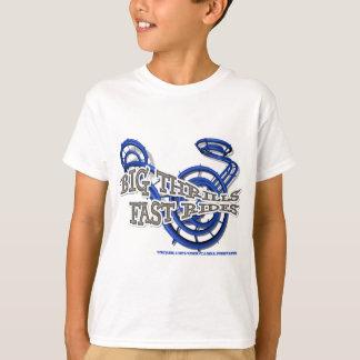 T-shirt Big thrills , Fast rides Bleu Youtube Channel
