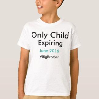 T-shirt #bigbrother de expiration d'enfant unique
