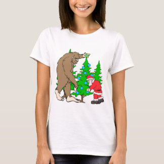 T-shirt Bigfoot et Noël de Père Noël