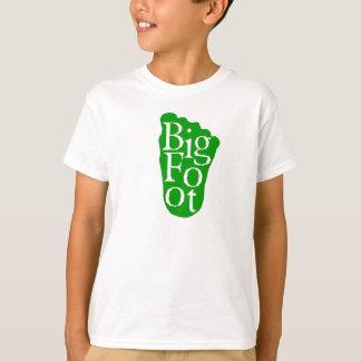 T-shirt Bigfoot ! Grand yeti de pied de Sasquatch (VERT)