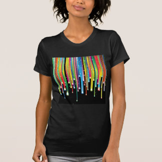 T-shirt Bijoux de pluie de spectre de couleur d'abrégé sur
