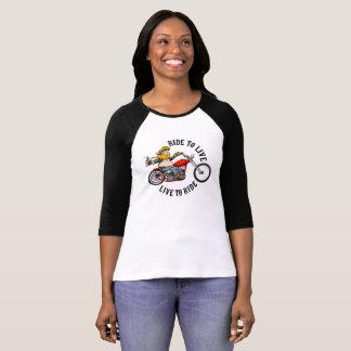 T-shirt Biker motard ride to live
