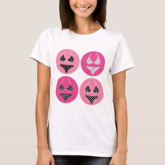 T-shirt Bikini merveilleux sur le rose