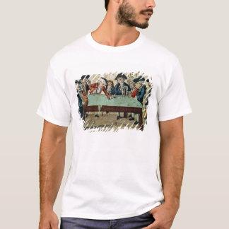 T-shirt Billards, gravure à l'eau-forte du 18ème siècle