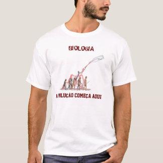 T-shirt Biologie, BIOLOGIE, l'évolution commence ici