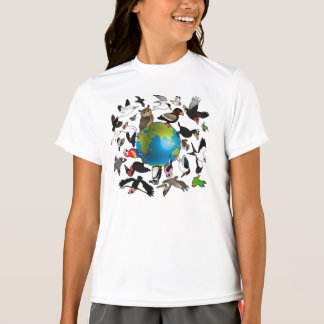 T-shirt Birdorables autour du monde