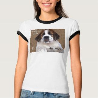 T-shirt Biscuit de chiot de St Bernard