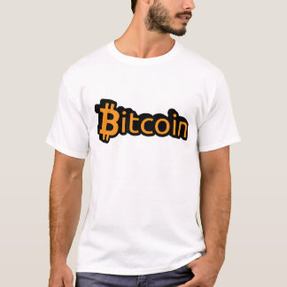 T-shirt Bitcoin dollar écriture