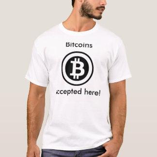 T-shirt Bitcoins a accepté ici