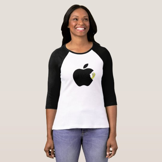 T-shirt Black Apple worm
