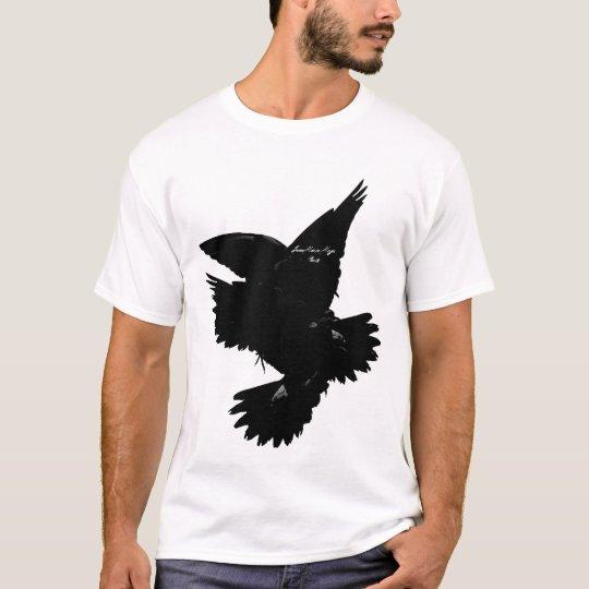 t-shirt black birds Jean Marie Moyer