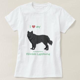 T-shirt black finlandais Lapphund shirt - lapinkoira