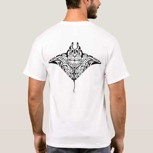 T-shirt Black Ray Manta 1
