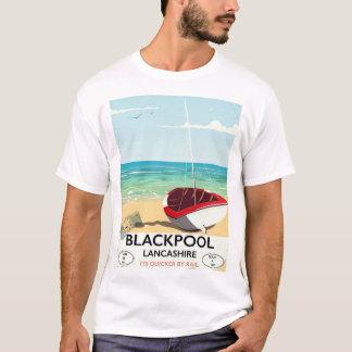 T-shirt Blackpool, lancashire, affiche de rail