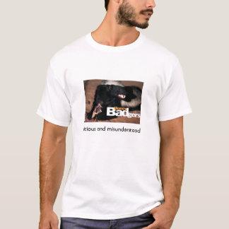 T-shirt blaireau de miel 3, méchant et mal compris
