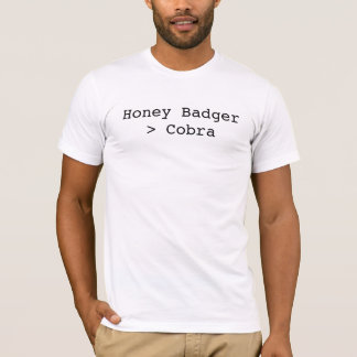T-shirt Blaireau de miel plus grand que le cobra