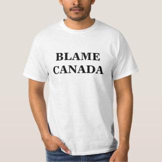 T-SHIRT BLÂME CANADA !