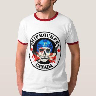 T-shirt Blanc avec la chemise rouge d'équilibre