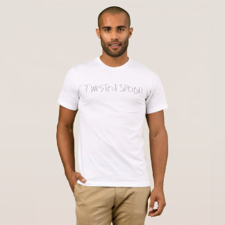 T-shirt blanc de base de twistedXspoon