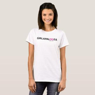 T-shirt Blanc de base T de dames -- logo de dix ans