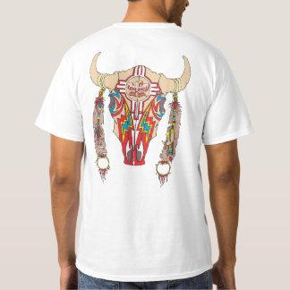 T-shirt Blanc de bison d'Apache d'équipe
