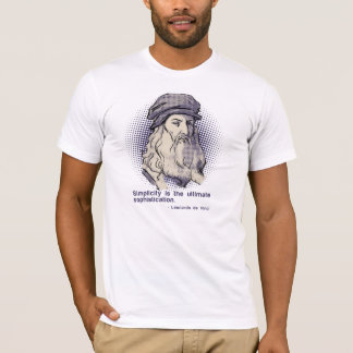 T-shirt blanc de citation de da Vinci