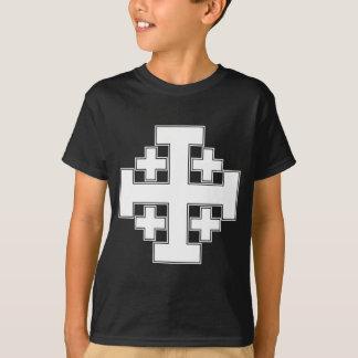 T-shirt Blanc de croix de Jérusalem