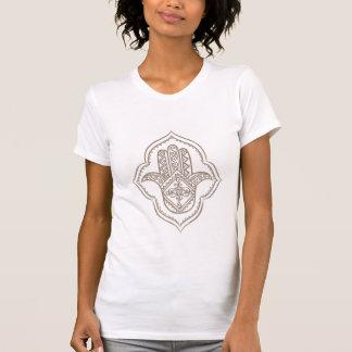 T-shirt blanc de hamsa (taupe)
