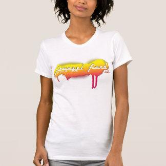 T-shirt blanc de JapanTag de démon de jacuzzi