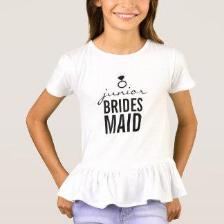 T-shirt - blanc de l'anneau de la demoiselle