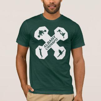 T-shirt Blanc de logo de Xfit Dumbell