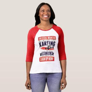 T-shirt Blanc de Mangue Rouge Femina Vintage