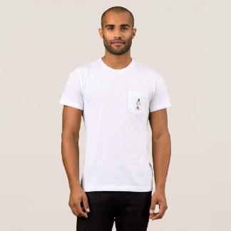 T-shirt blanc de pingouin d'arc de très bon goût