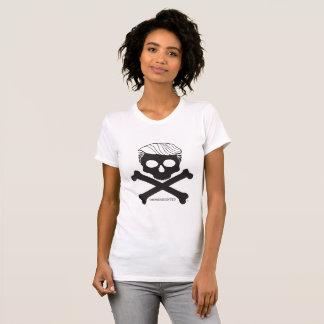 T-shirt Blanc de t de dames avec le logo noir