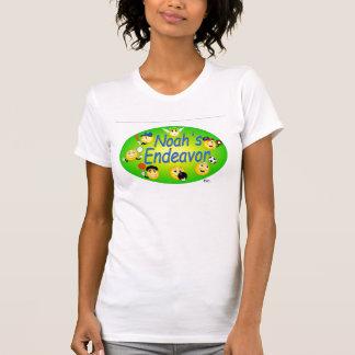 T-shirt Blanc décontracté de scoop de dames
