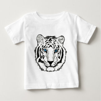 T-shirt blanc d'enfant en bas âge de tigre