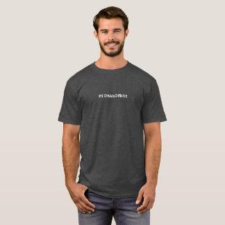 T-shirt blanc des textes de protagoniste
